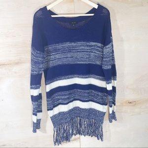Mine   Soft Knit Navy Striped Sweater